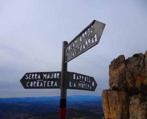 Mountain sign Montsant